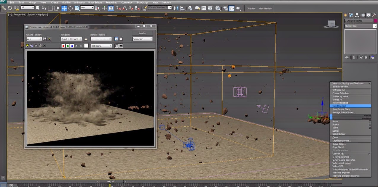 Ground Explosion effect with 3ds Max Particle Flow and Fume