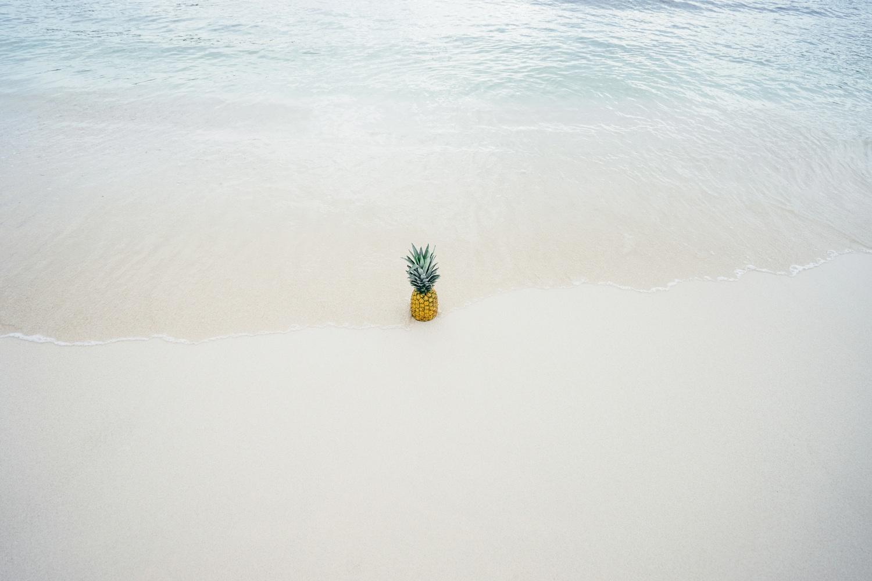ananas, summer, plage,