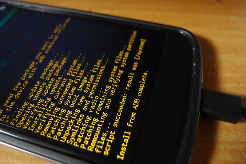 【Nexus4】Android 5.0.1 OTAリンクのzipからアップデート 1