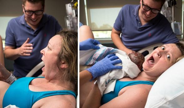 Seorang wanita amat terkejut ketika melihat bayi yang dia lahirkan