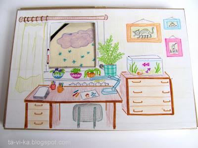 домик для бумажной куклы