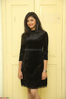 Mounika in a velvet short black dress for Tick Tack Movie Press Meet March 2017 101.JPG