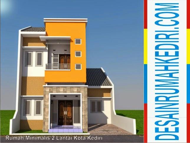 Renovasi Tampak Depan Rumah Minimalis  lt2 07 rumah minimalis 2 lantai kota kediri jasa desain