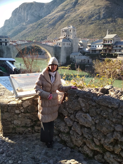 (location #Mostar, Bosnia and #Herzegovina, old town and bridge)