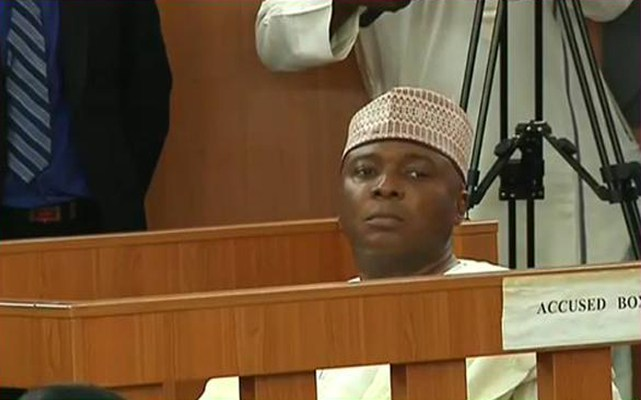 The embattled senate president is currently on trial for alleged corruption and false declaration of assets.