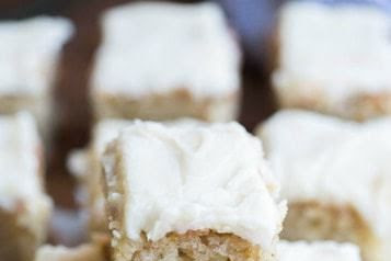 BANANA BREAD BARS WITH BROWNED BUTTER GLAZE