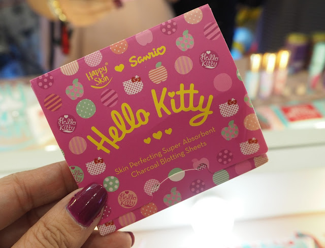 a photo of Happy Skin x Sanrio Skin Perfecting Super Absorbent Charcoal Blotting Sheets