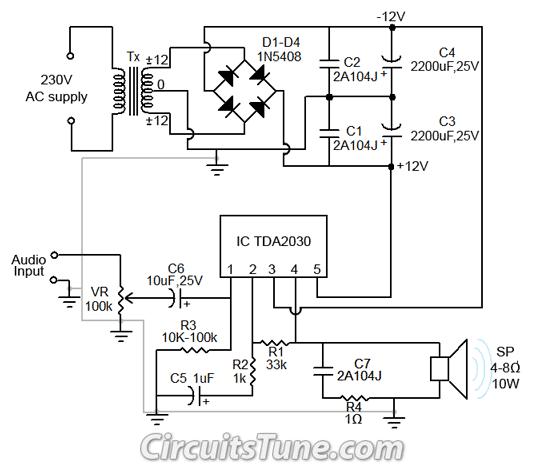 Power Supply Circuit Diagram Using Bridge Rectifier Powering Your