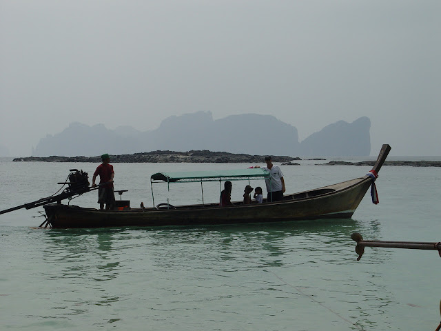 Longtail with Phi Phi Ley in the background
