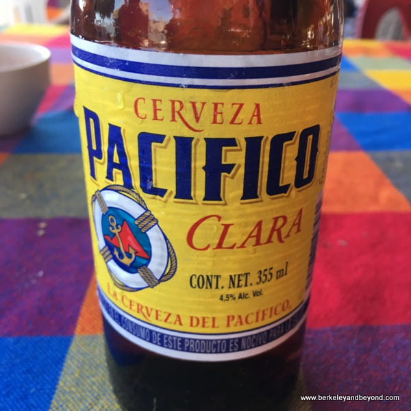 Pacifico beer at Garza Blanca restaurant on Las Islitas in San Blas on Riviera Nayarit in Mexico