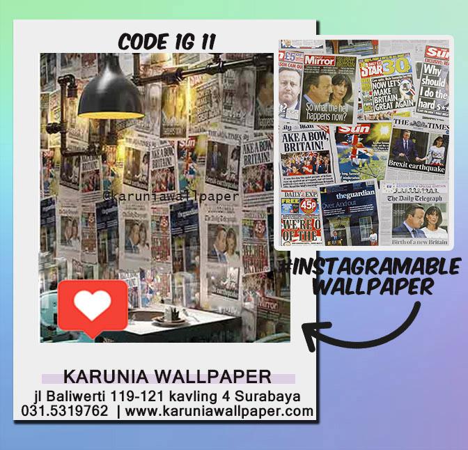 jual hiasan dinding wallpaper rumah vintage