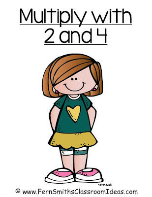 Fern Smith's Classroom Ideas Multiply with 2 and 4 - Quick and Easy Center and Printables with No Common Core