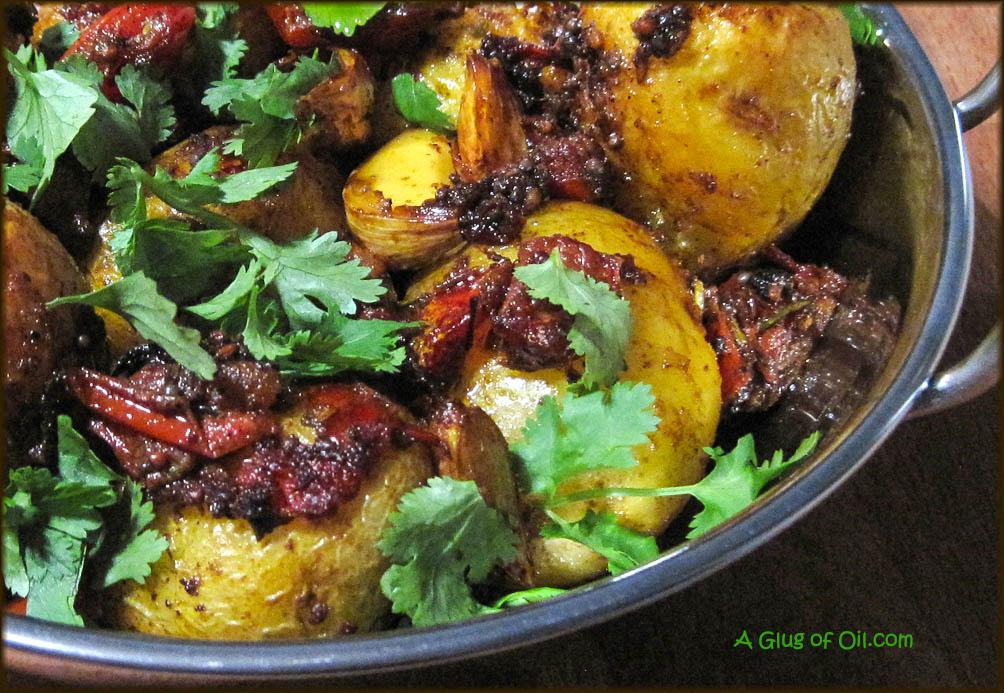 Bombay-Style Potatoes close up