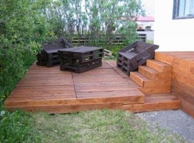 terrazas construcci n y decoracion de terrazas bonitas terrazas con palets. Black Bedroom Furniture Sets. Home Design Ideas