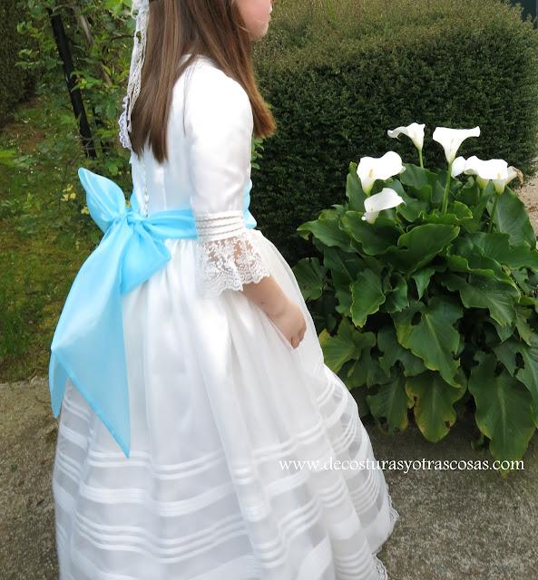 vestido hecho a mano para niña 1º comunión