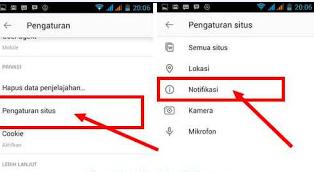 Cara Hilangkan PopUp Notifikasi Opera di Layar Android