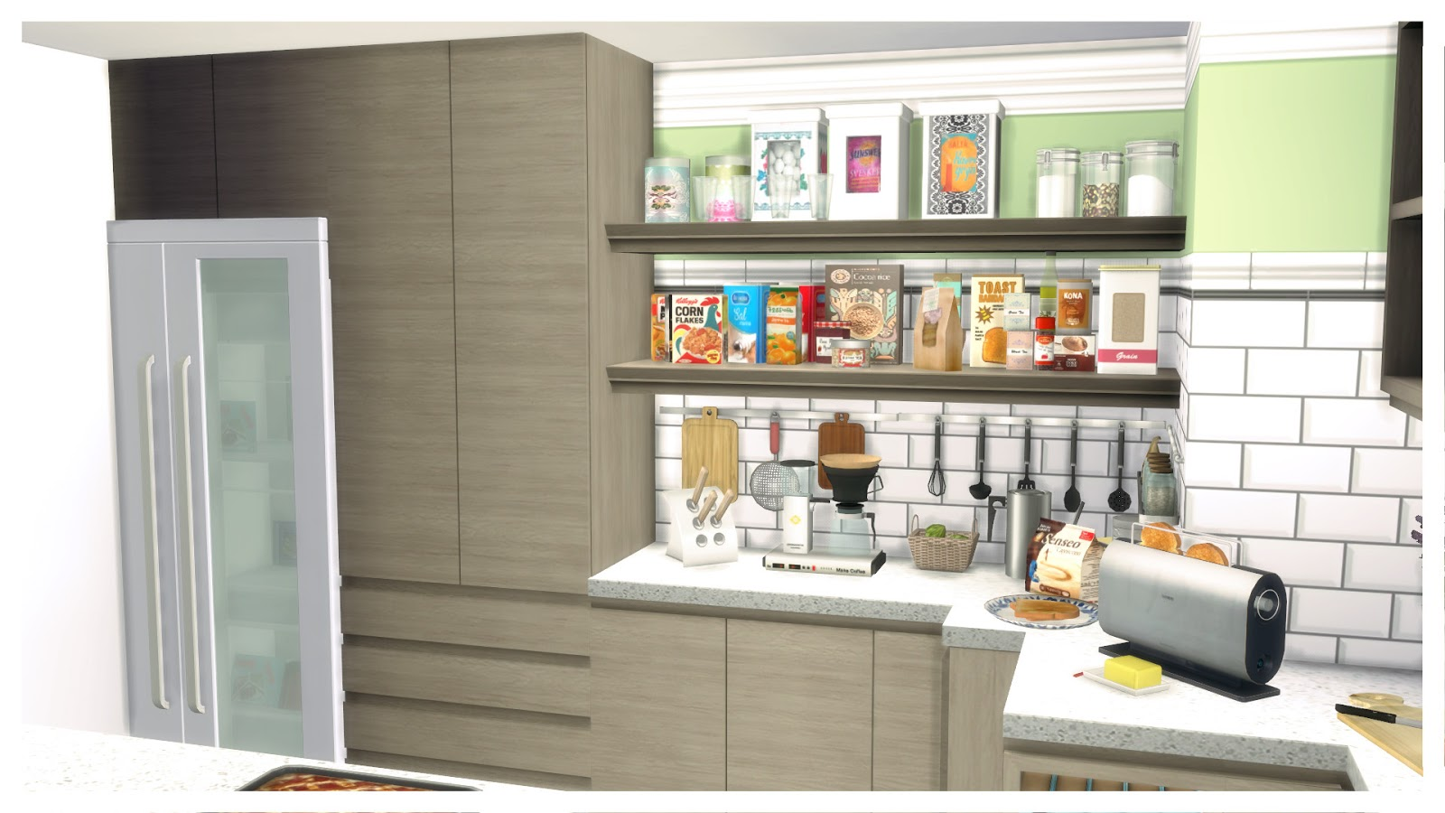Sims 4 big family kitchen ii dinha for Large family kitchen