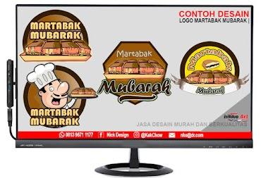 Desain Logo Martabak King Bangka Mubarak Tanjungbalai | Desain Logo Murah Berkualitas