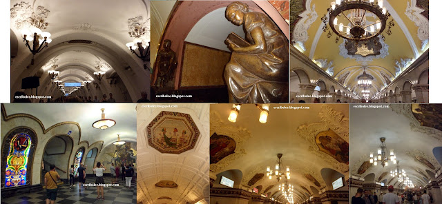 Viaje a Rusia: Moscú: varias estaciones del Metro de Moscú