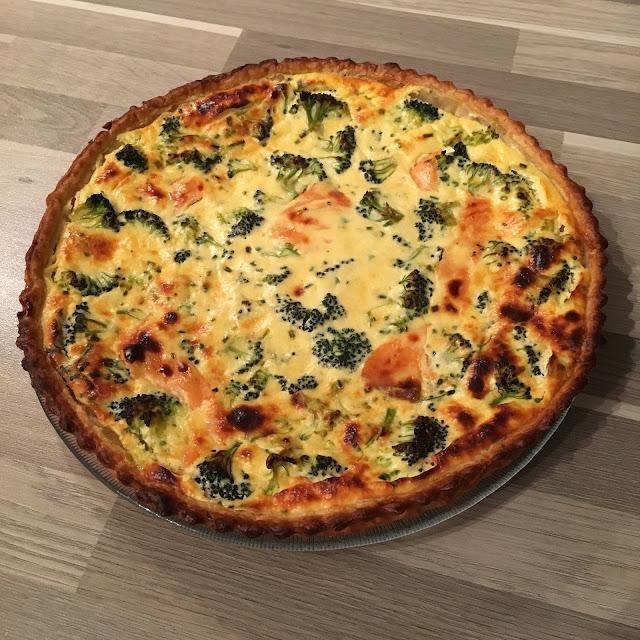 Quiche ricotta/saumon/brocoli