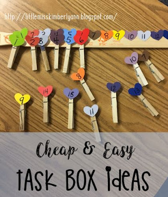 Cheap & Easy Task Box Ideas in Special Education