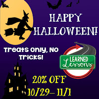 Halloween Sale, Learned Lessons, TPT Sale, Save Money on Halloween, Halloween