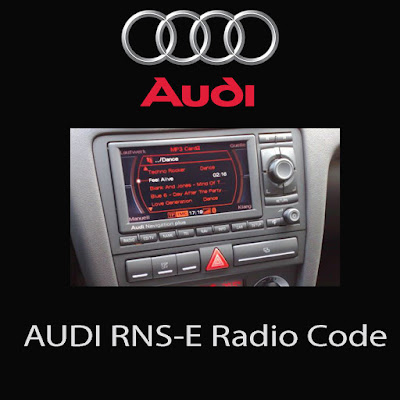 Audi Aisin navigation RNS-E unlock CD  كود الراديو