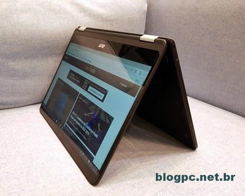 Acer Spin 7 tem design dobrável e é leve