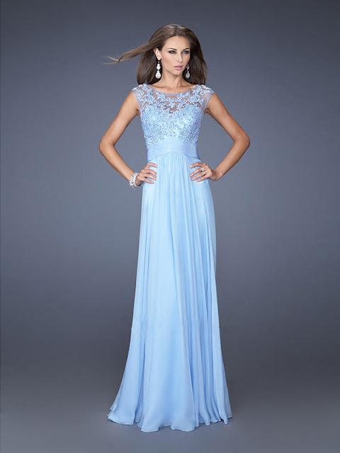 99c1d9423 Vestidos de graduacion color azul cielo - Vestidos formales