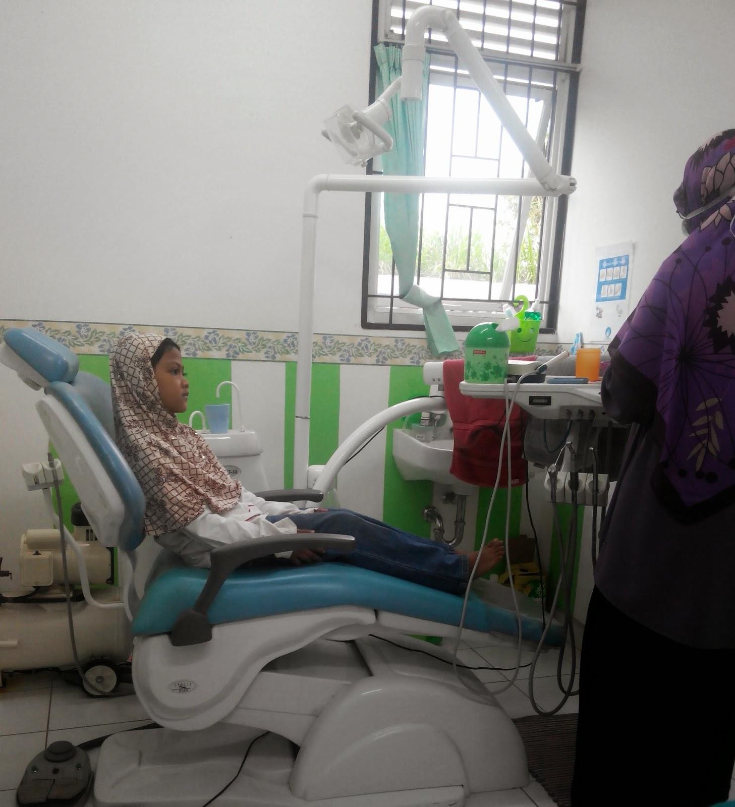Ruang perawatan gigi Puskesmas Situ Gintung, Serua - Ciputat