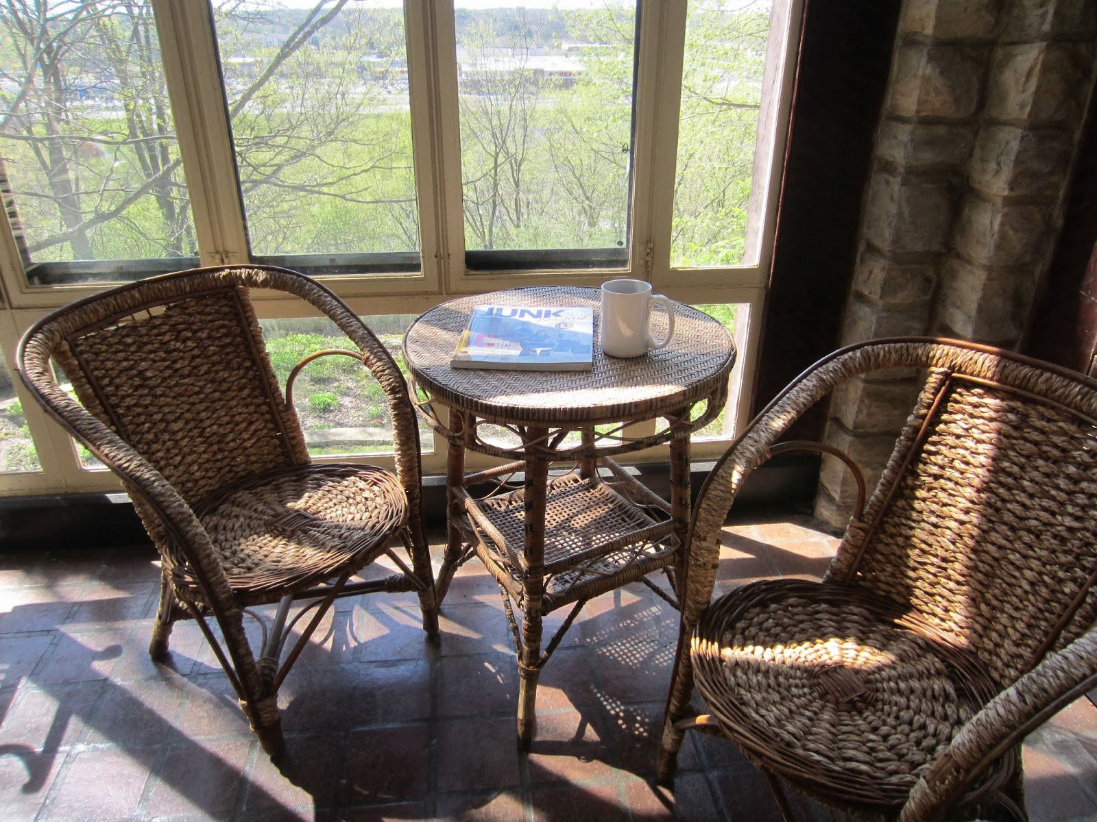 Yes, I Am Reading A Book On Repurposing JUNK By Ki Nausser. The Four Season  Glassed In Porch Overlooks A Garden Which Used To Be A Swimming Pool.