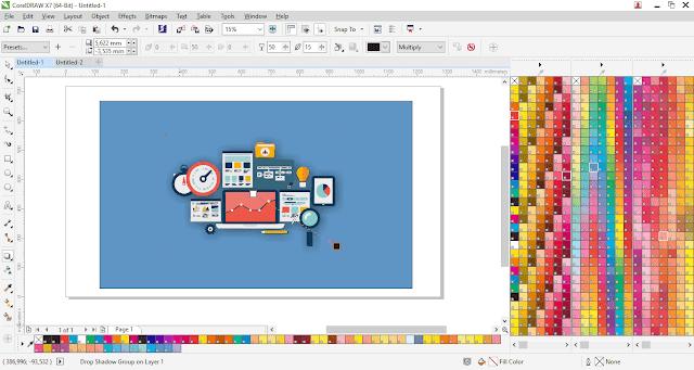 Cara Mudah Membuat Gambar Postingan Keren Dengan CorelDraw