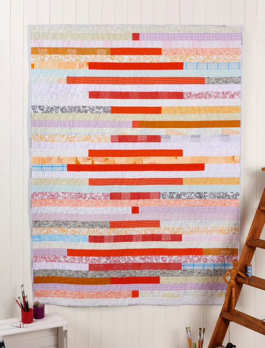 Springy Stripes Quilt Free Tutorial designed by Karen Lewis for Love Patchwork and Quilting
