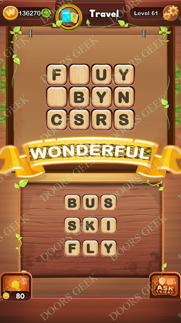 Word Bright Level 61 Answers, Cheats, Solutions, Walkthrough for android, iphone, ipad and ipod
