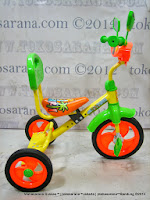 Sepeda Roda Tiga PMB 920 BMX Safari Musik - Sandaran Orange