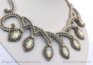 "Necklace ""Grace"" beaded by PrettyNett.de"