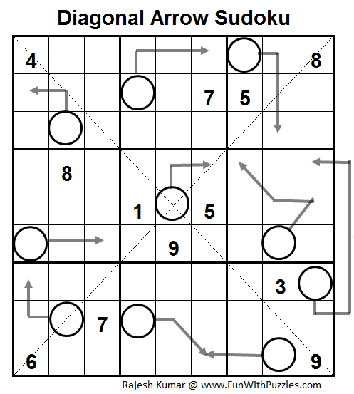 Diagonal Arrow Sudoku (Daily Sudoku League #61)