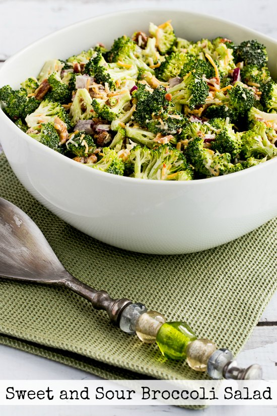 Sweet and Sour Broccoli Salad found on KalynsKitchen.com