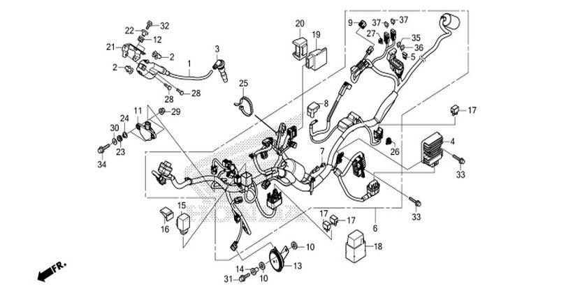HONDA CBR150R 250R 300R零件圖