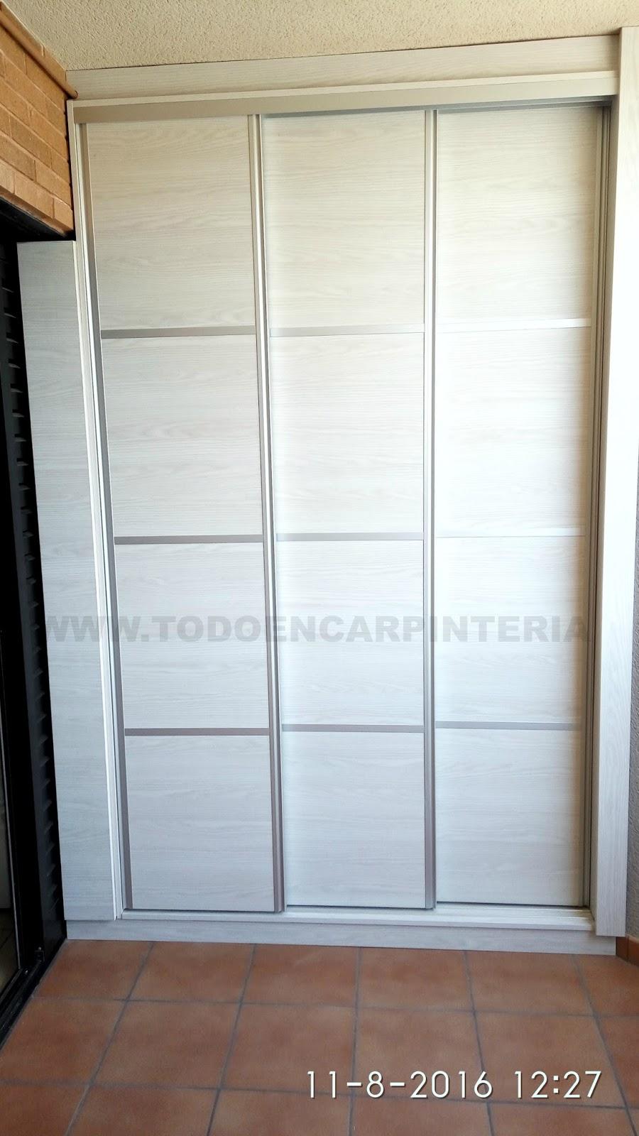 Armario de tres puertas correderas con betas en horizontal todo en carpinter a bricolaje y - Armarios tres puertas ...