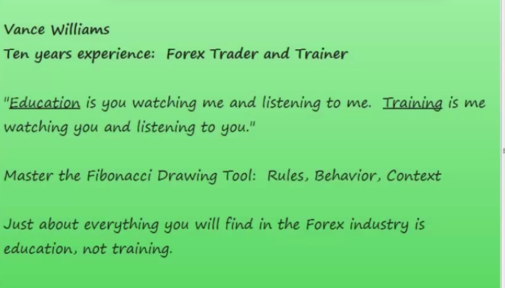 Vance williams forex