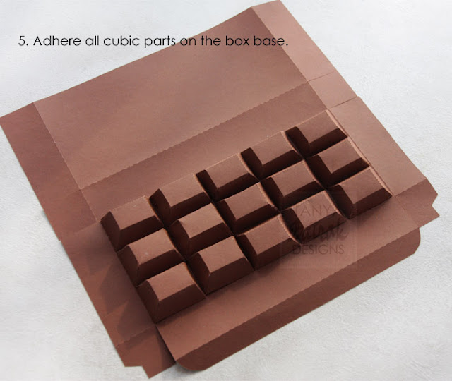 paper chocolade bar box kirigami