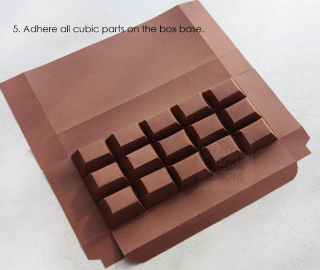 paper chocolade bar box kirigami