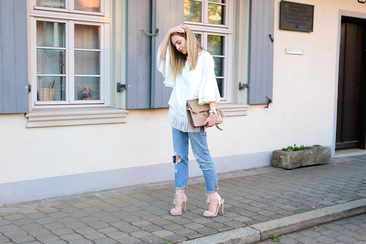 Want Get Repeat Blog Trumpet Sleeves Blouse Outfit