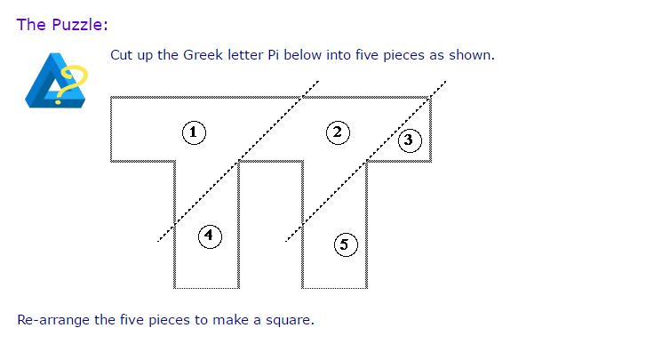Math = Love: Square Pi Puzzle For Pi Day
