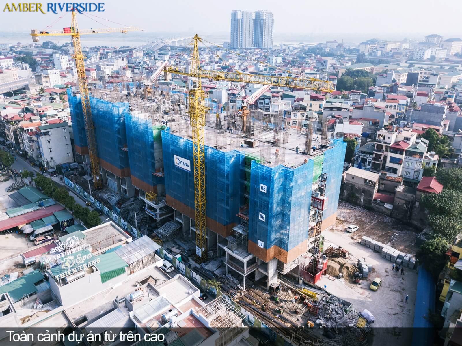 Toàn cảnh của dự án 622 Minh Khai nhìn từ trên cao