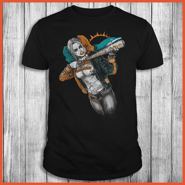 Miami Dolphins Harley Quinn T-Shirt