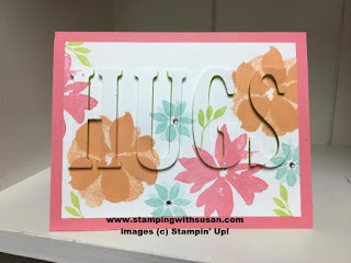Stampin' Up! Large Leter Framelits Lots of Love Stamp Set Blooms & Wishes Stamp Set Big Shot machine