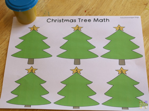 Christmas Tree Math Pack For Preschoolers School Time Snippets