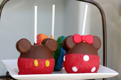 A Healthy And Instagram Worthy Snack Check Out How To Make Mickey Mouse Candy Apples